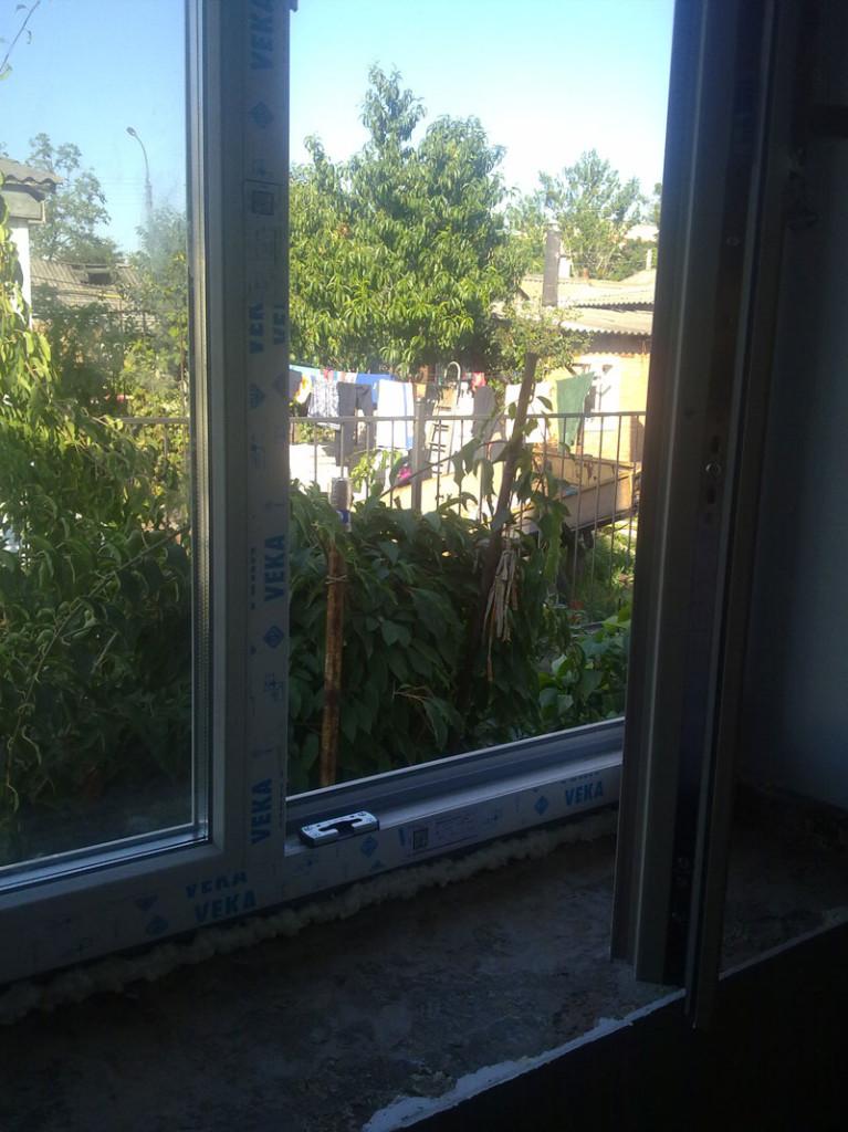 Окно класса Lux после монтажа у клиента